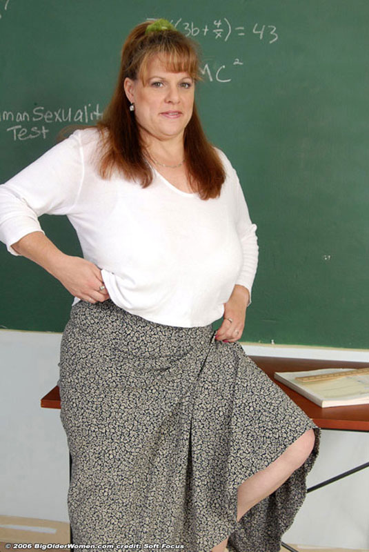 spreading classroom in teacher Busty